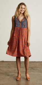 Bellflower Shift Dress Apricot