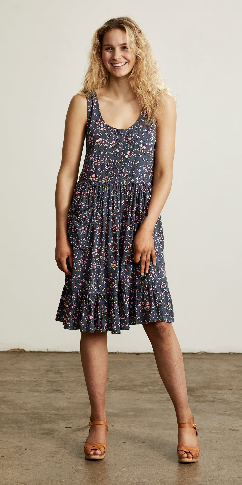 Bellflower Sun Dress Plum