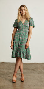 Bellflower Play Dress Forest Green