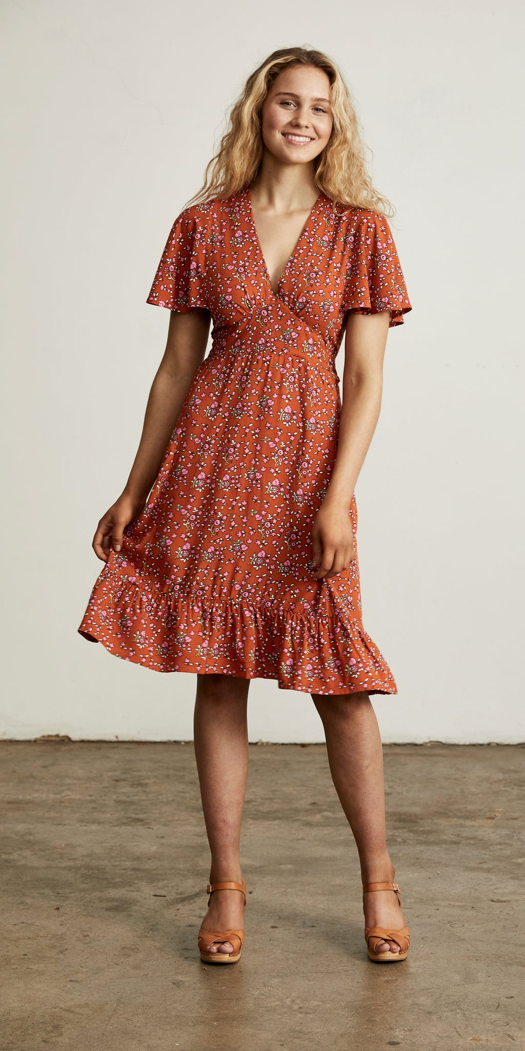 Bellflower Play Dress Apricot