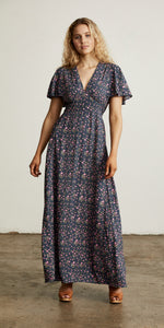 Bellflower Maxi Dress Plum