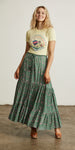 Bellflower Maxi Skirt Forest Green
