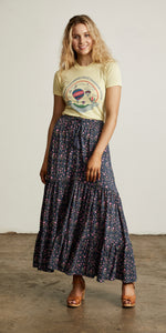 Bellflower Maxi Skirt Plum