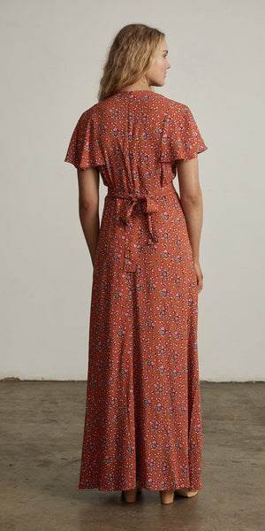 Bellflower Maxi Dress Apricot