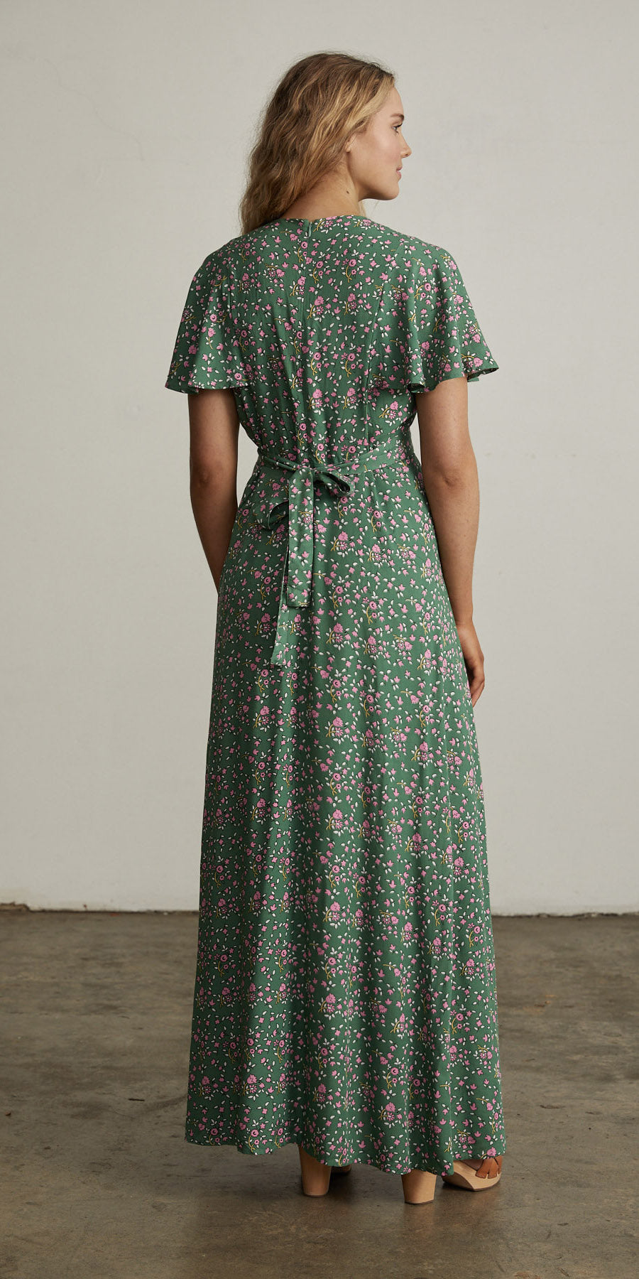 Bellflower Maxi Dress Forest Green