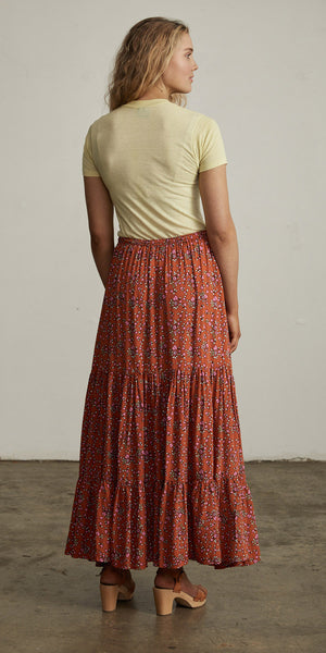 Bellflower Maxi Skirt Apricot