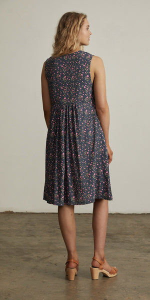 Bellflower Shift Dress Plum