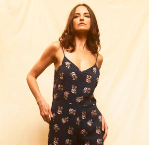 Flora Jumpsuit - Navy