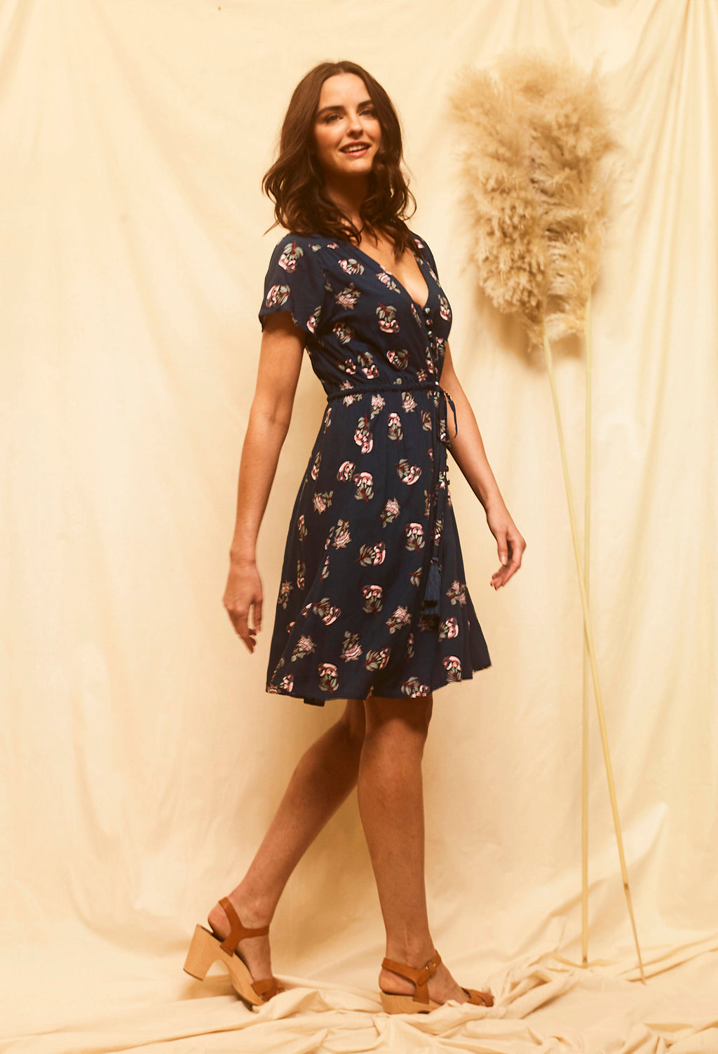 Flora Play Dress - Navy