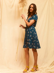 Flora Play Dress - Teal