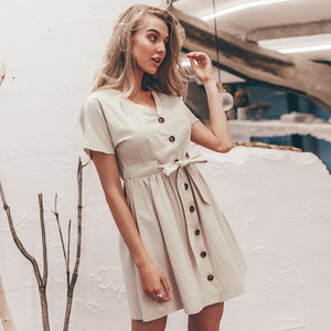 LA Vintage button  dress