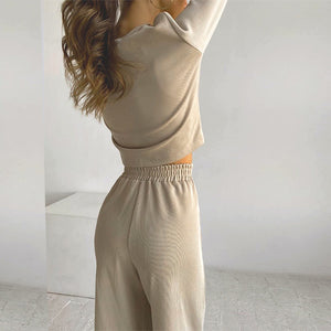 LA Two piece Loose women's casual suit