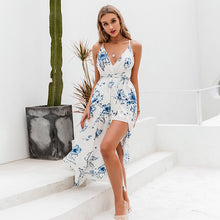 Load image into Gallery viewer, LA  Holiday beach v neck  floral dress