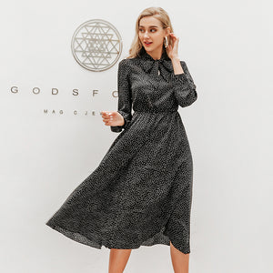 LA Elegant polka dot  dress