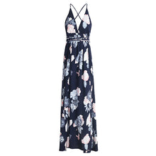 Load image into Gallery viewer, LA Sexy backless boho print split maxi dress