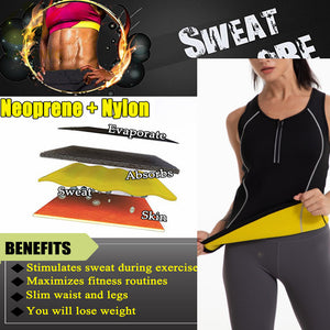 LA Hot Neoprene Vest Sauna Sweat Top