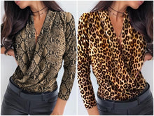 Load image into Gallery viewer, LA V neck office ladies blouses shirts
