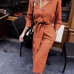 LA Long Sleeve Women Dress