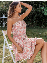 Load image into Gallery viewer, LA Sleeveless floral print tube dress
