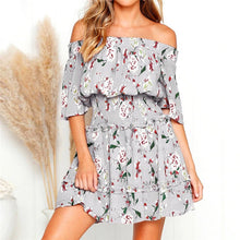 Load image into Gallery viewer, LA  Boho Style Floral Print Beach Dress