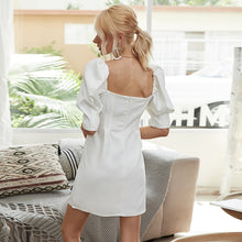 Load image into Gallery viewer, LA Summer Elegant White Mini Dress