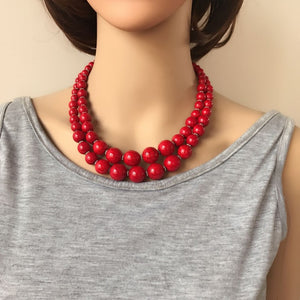 LA  Natural Stone Fashion Necklace