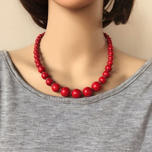 Load image into Gallery viewer, LA  Natural Stone Fashion Necklace