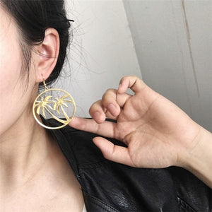 LA Golden Palm Tree Earrings