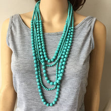 Load image into Gallery viewer, LA Turquoise Layered Beaded Necklace