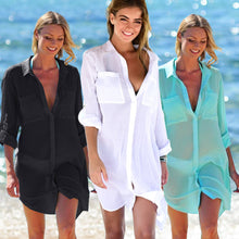 Load image into Gallery viewer, LA Oversized Sheer Coastal Cover Up