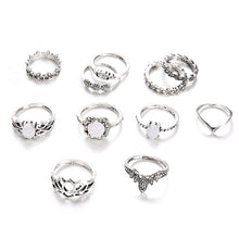 Load image into Gallery viewer, LA Opal Island 11 Piece Ring Set