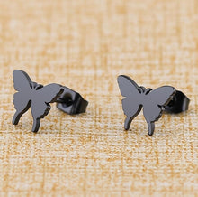 Load image into Gallery viewer, LA Stainless Steel Butterfly Stud Earrings