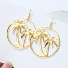 Load image into Gallery viewer, LA Golden Palm Tree Earrings