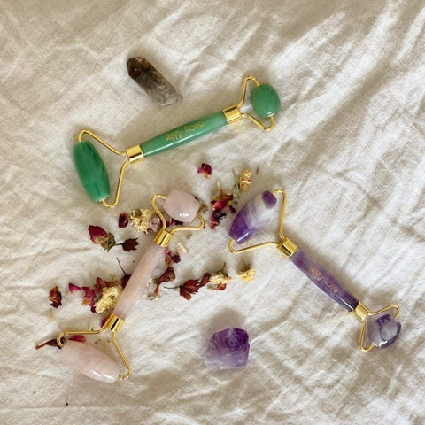 Hippy Rose ~ Crystal facial rollers