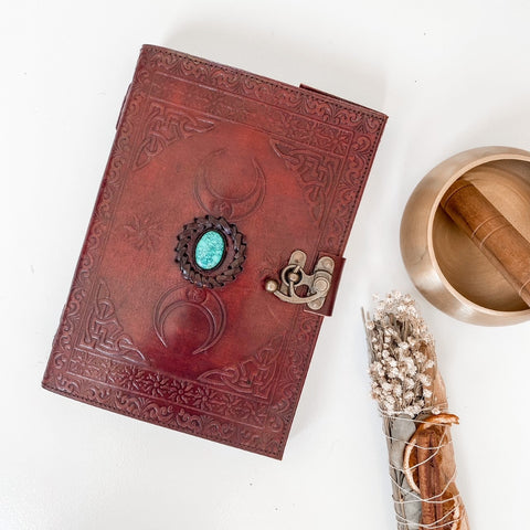 Turquiose Leather Journal