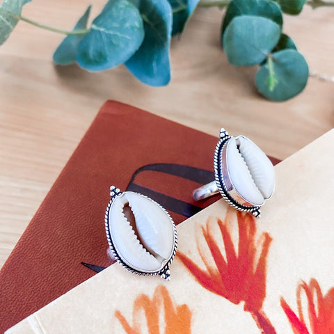 Cowrie Shell Single Ring