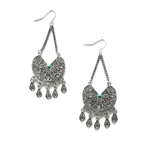 Skylar Earrings Turquoise
