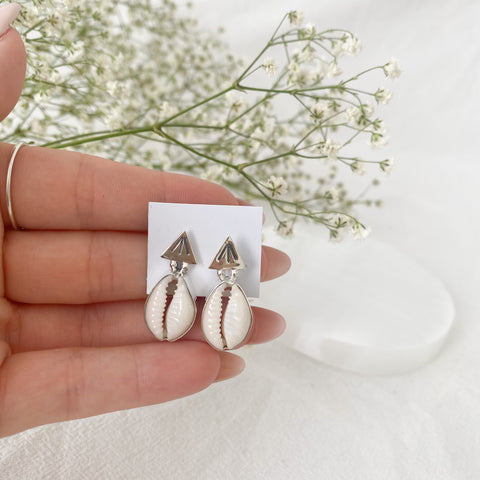Aztec Cowrie Shell Earrings