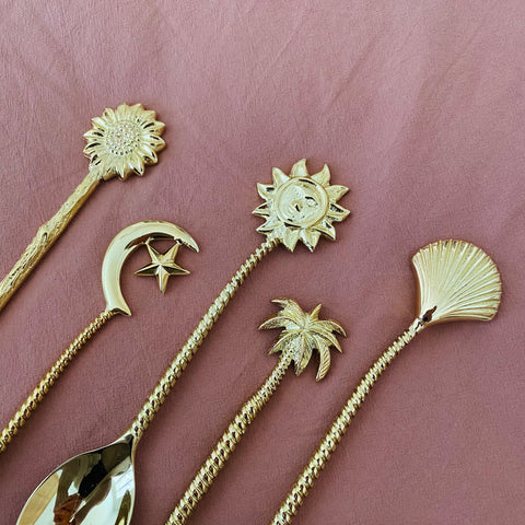 Brass Smoothie Spoons