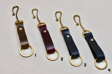 The Chromexcel Key Loop with Brass Hook and Stud - 1 of 2