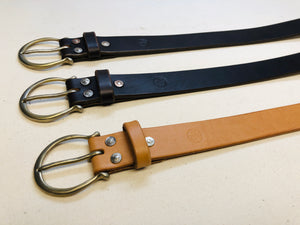 "The Crescent Buckle with 1 1/4"" Belt - Medium Brown"