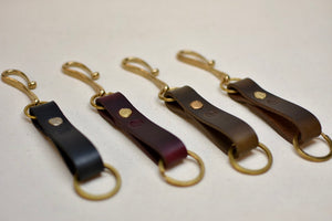 The Chromexcel Key Loop with Brass Hook and Rivet - 1 of 2
