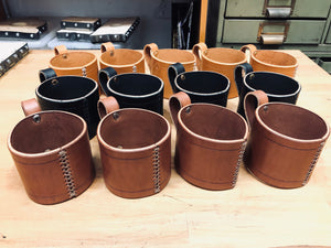 Leather Mason Jar Holder