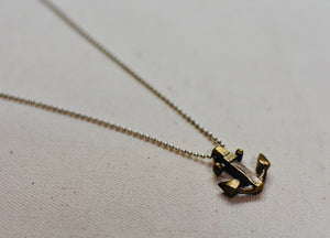 Anchor Pendant in Solid Brass