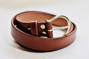"The Crescent Buckle with 1 1/4"" Belt - 1 of 2"
