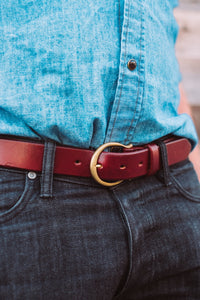 "The Crescent Buckle with 1 1/4"" Belt"
