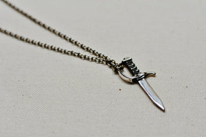 Dagger Pendant in Sterling Silver