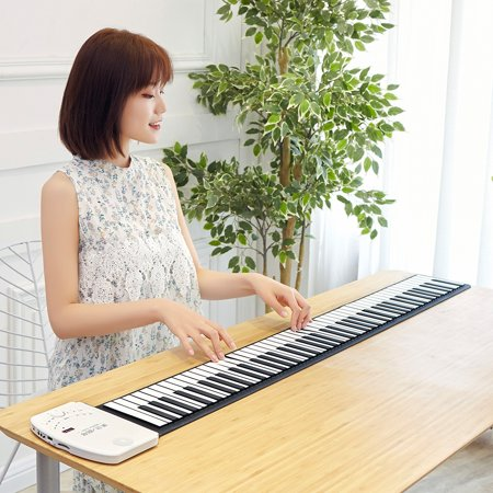 Portable 49 Keys Roll Up Piano Flexible Soft Silicone Electronic ...