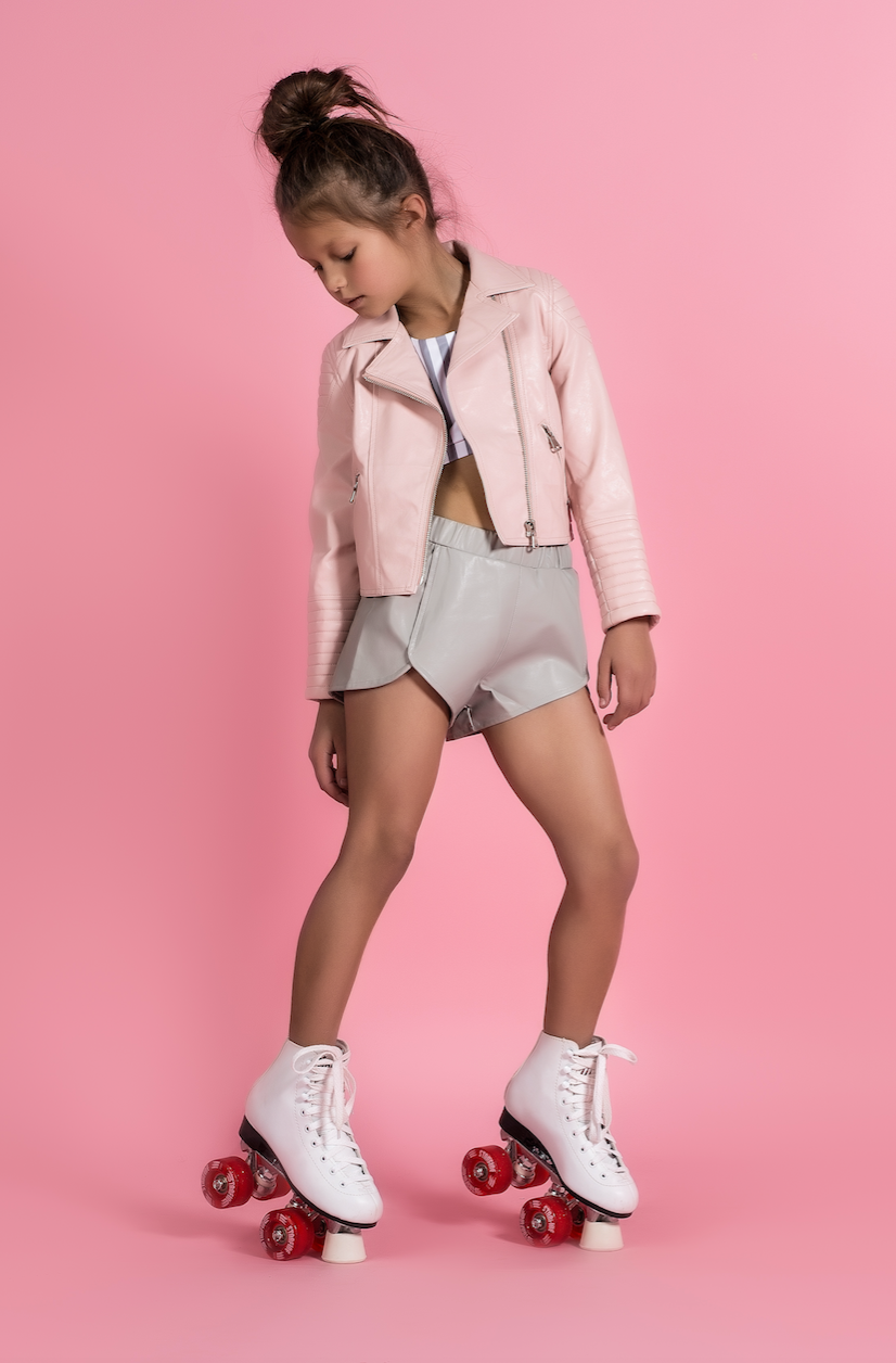 BLUSH VEGAN MOTO JACKET