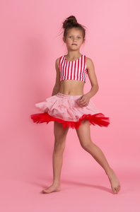 PINK/RED LAYERED TUTU